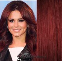 DELUXE vlnité clip in vlasy 51 cm, 200 g - měděná #350